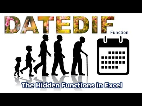 The amazing DATEDIF a hidden Function in Excel, Calculates dates differences in Years, Months & Days