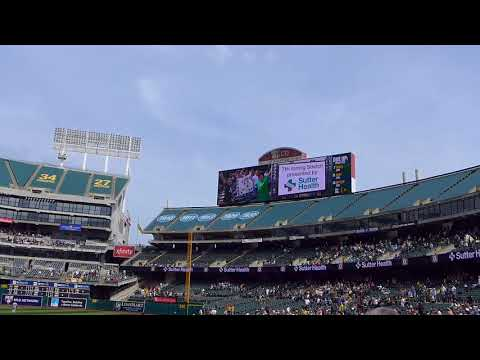 【MLB SEAvsOAK 2016.05.04】7回の「私を野球に連れてって」合唱/Take Me Out to the Ball Game@Oakland Coliseum