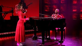 John Legend Performs Conversations in the Dark ft Lindsey Stirling