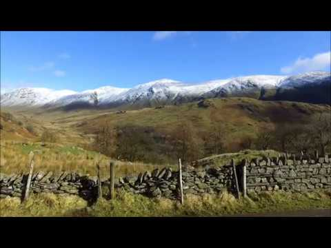 Aerial Footage Of The Lake District. Storm Doris 2017