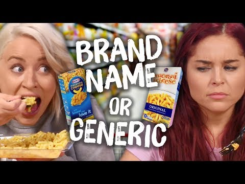 Ultimate BRAND NAME vs. GENERIC Food Challenge! (Cheat Day)