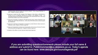 March 16, 2021 Delaware County Council Agenda Meeting