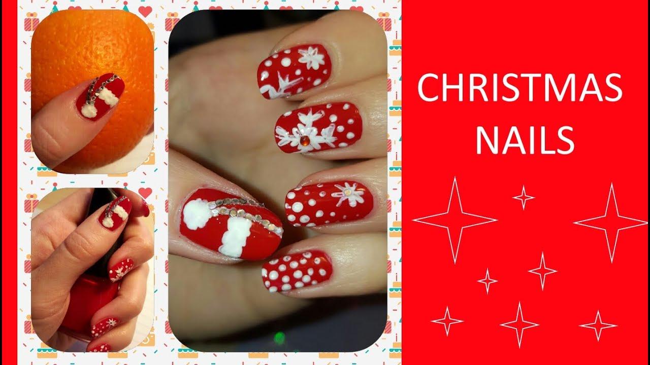NAIL ART ♥ CHRISTMAS - NEW YEAR ♥ TUTORIAL ♥ NAILS FOR CHRISTMAS ...