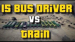 GTA 5 Online: 15 BUS DRIVER VS TRAIN | EPIC | Standart Skill | Wir gegen den Zug