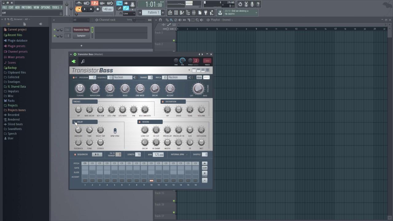 FL Studio - Transistor Bass (TB-303) - YouTube