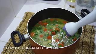 Carrot & Coriander Soup - Vegan Cilantro Recipe - Super Easy