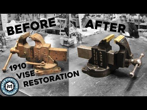 Vise Restoration   1910 Chas Parker 205-P