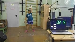 Гиревой спорт. Белякова Арина 2011 года Рывок гири 8 кг за 5 минут (Спринт) 13.10.2020 года.