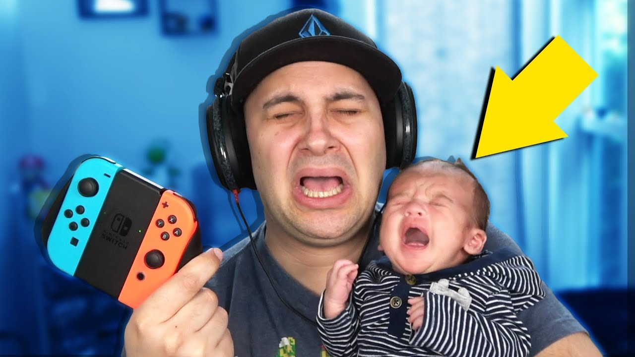 How To Play Video Games With A Newborn Baby...