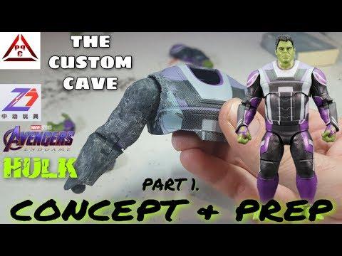 The Custom Cave: ZD Toys Avengers Endgame HULK Part.1 (Concept & Prep)