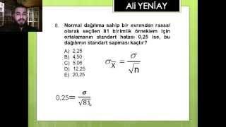 Av. Ali YENİAY - İstatistik-II Soru Çözümü (2012-2013 Ara Sınav)