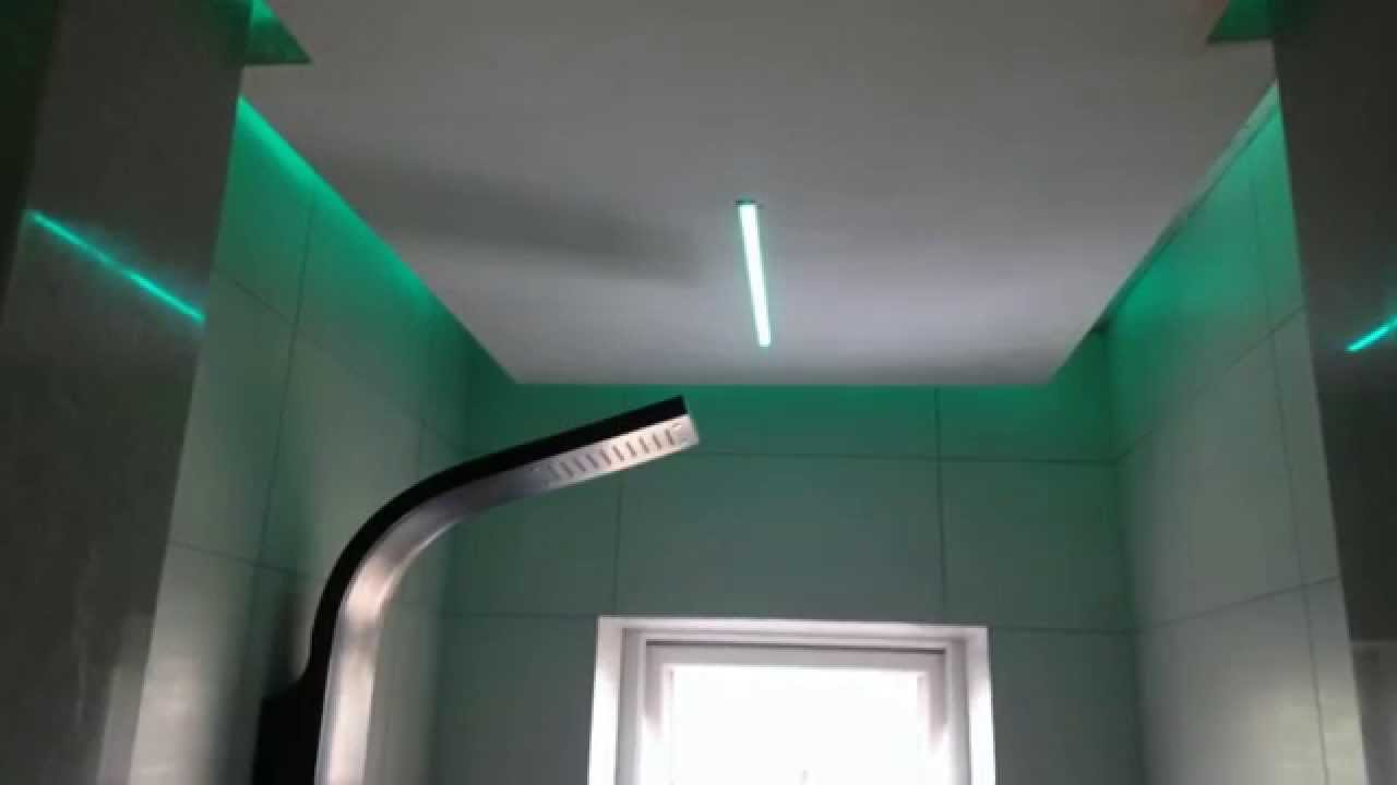 RGB LED Strip Installed In A Bathroom