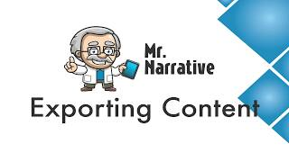 What is Mr. Narrative #6 - Exporting to a PDF