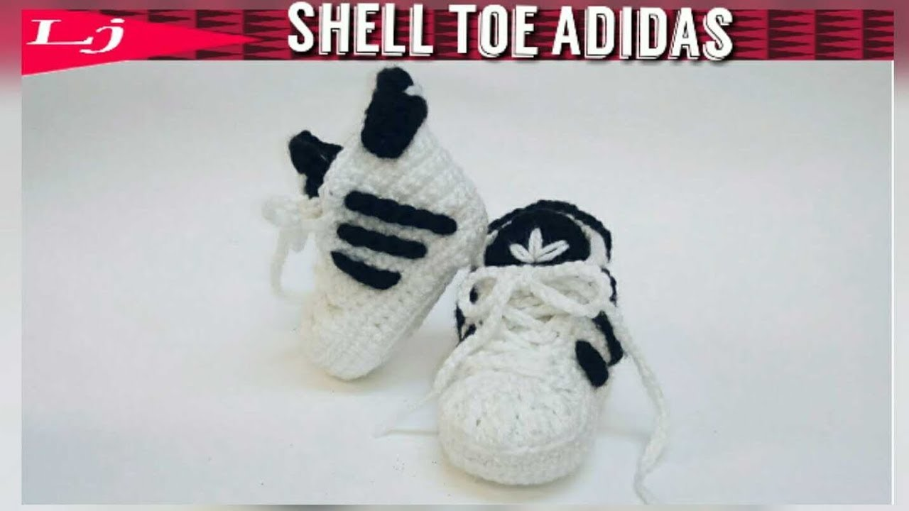 0a73f3e445 Crochet Adidas Baby Sneakers - YouTube