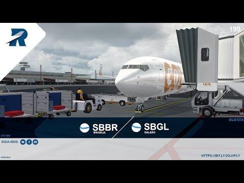 Prepar3D v4.4  – GLO7274 / B737-800 – Brasilia (SBBR)  / Galeao (SBGL) - IVAO