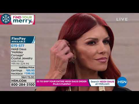 HSN | Heidi Daus Jewelry Designs Gifts 11.09.2018 - 05 PM