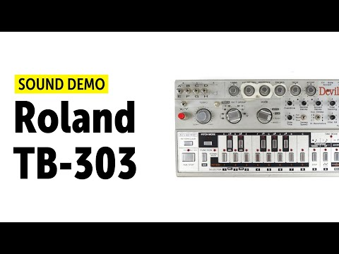 Roland TB-303 Devil Fish Sound Demo (no Talking)