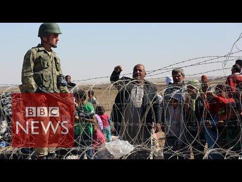 Islamic State:130,000 Kurdish refugees flee to Turkey- BBC News