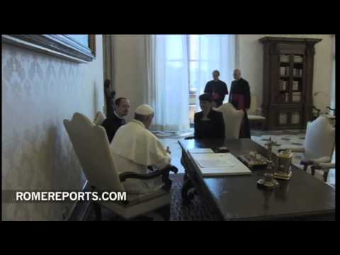 Pope discusses economy and education with Slovenian prime minister