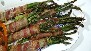 Խոզապուխտով Ծնեբեկ - Bacon Wrapped Asparagus - Heghineh Cooking Show in Armenian
