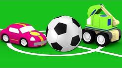Lehrreicher Zeichentrickfilm - Die 4 kleinen Autos - Das Fußballspiel