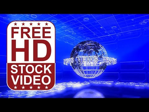 FREE HD video backgrounds - animated digital news background with globe spinning and matrix effects