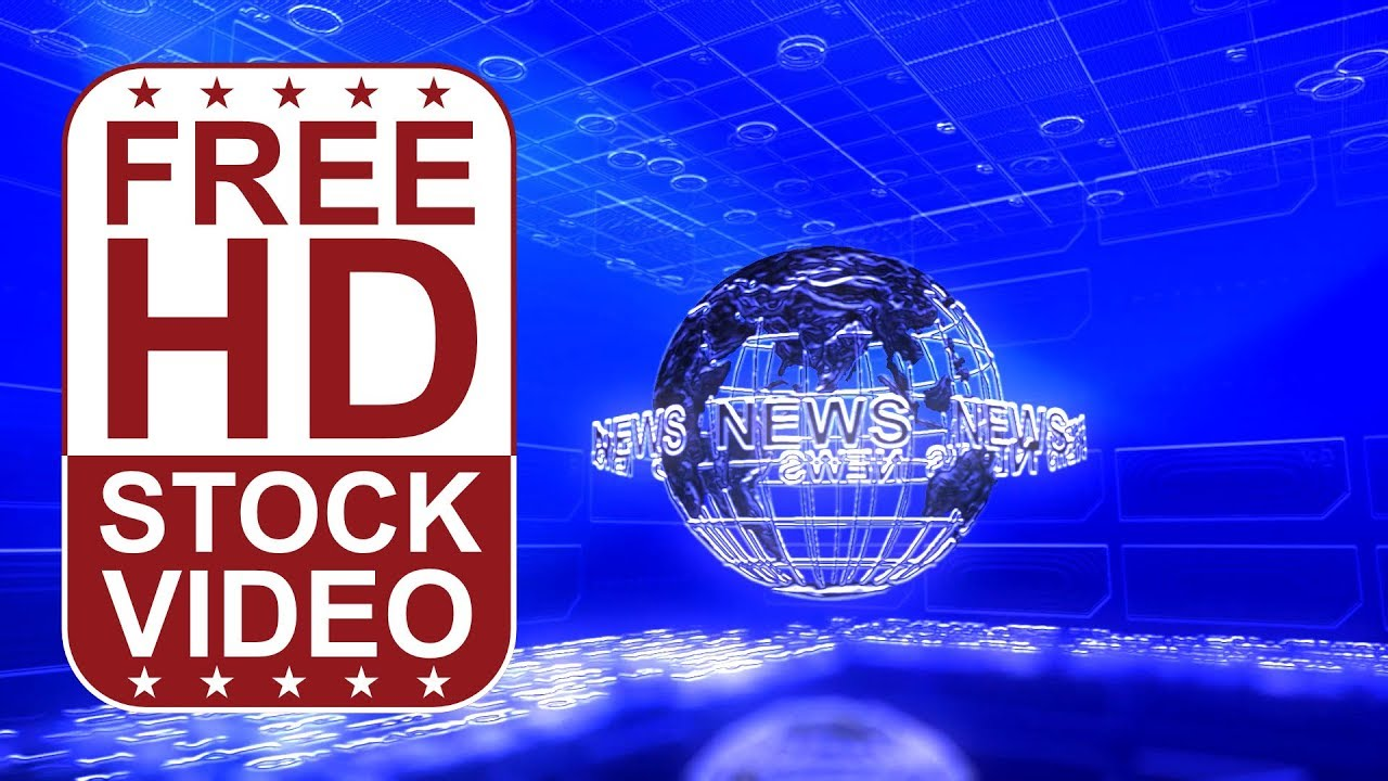FREE HD video backgrounds - animated digital news background with globe spinning and matrix ...