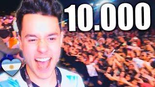 MI PRIMERA VEZ DELANTE DE 10.000 PERSONAS [VLOG FINAL ARGENTINA] - TheGrefg