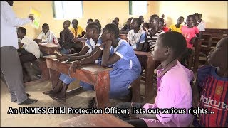 Child Rights explained as part of a classroom session