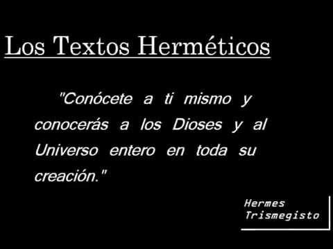 Audio Libro Textos Herméticos Hermes Trimesgisto