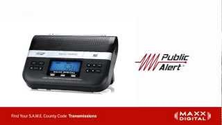 Finding S.A.M.E. Codes for Your Maxx Digital Automatic Alert Radio