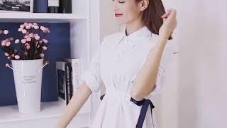[해외직구] 가을 여성 프렌치 슬림 화이트 셔츠 긴팔 …