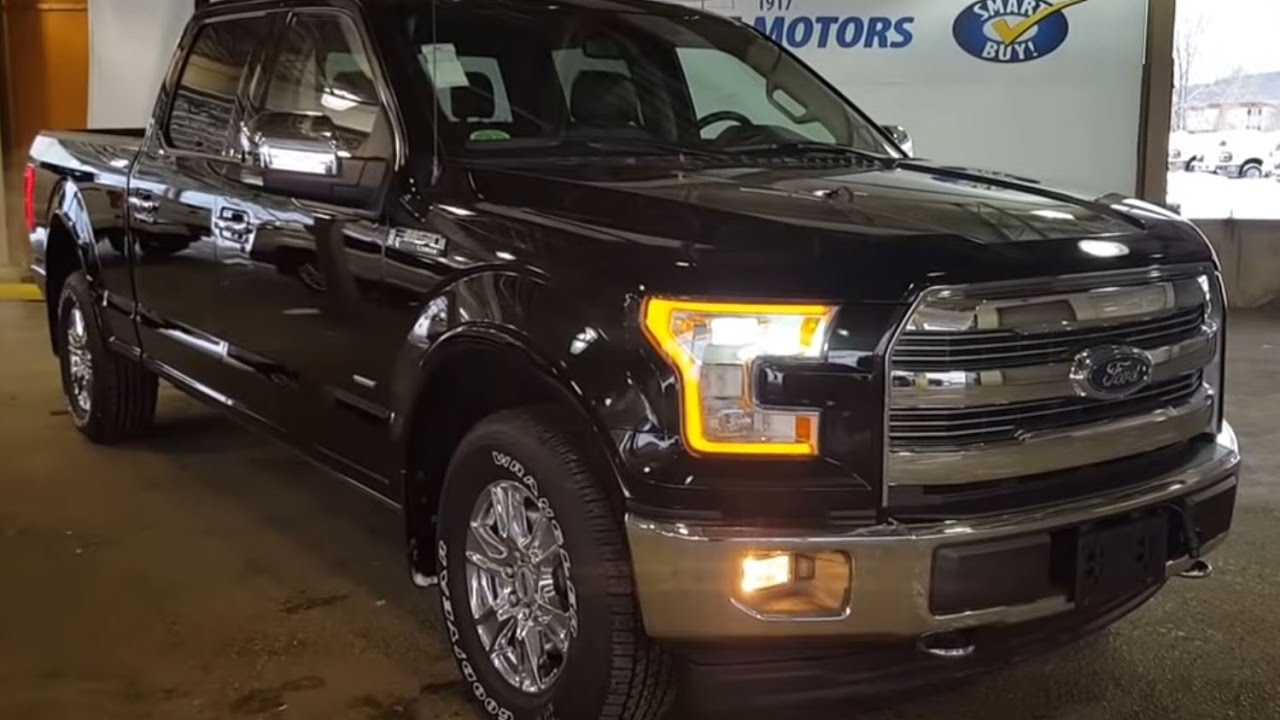 2017 black ford f 150 4x4 supercrew lariat review prince george motors youtube. Black Bedroom Furniture Sets. Home Design Ideas