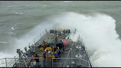 Indian Navy Ship attached by ocean wave(Indian Nausena k jabanje soldiers)