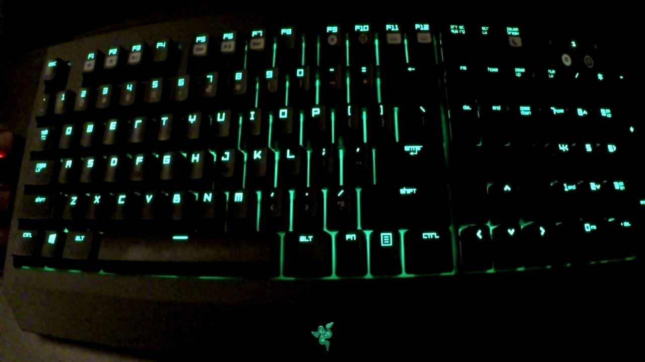 Razer Blackwidow Ultimate 2016 Lighting Tutorial