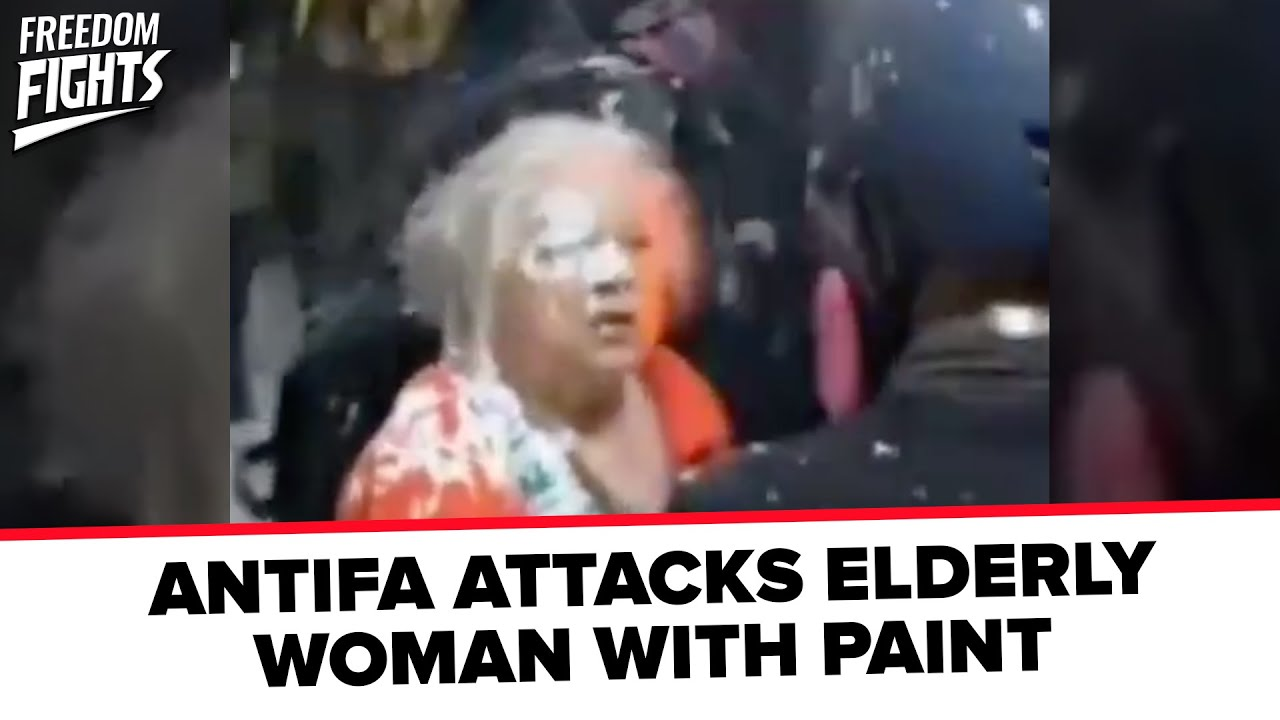 SICK: Antifa Attacks Elderly Woman With Paint
