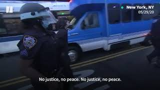 Police Violence Against Anti-Racism Protesters