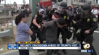 Security crackdown ahead of Trump's visit