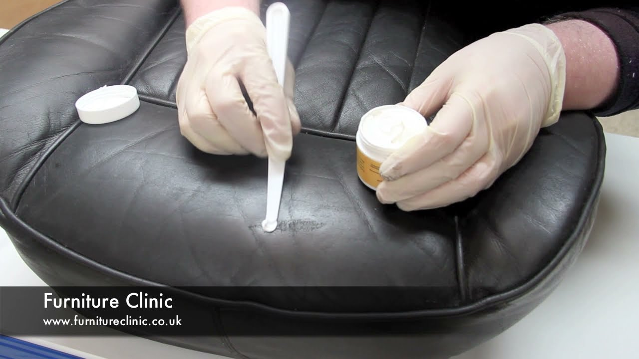 repairing scratches scuffs in leather youtube. Black Bedroom Furniture Sets. Home Design Ideas