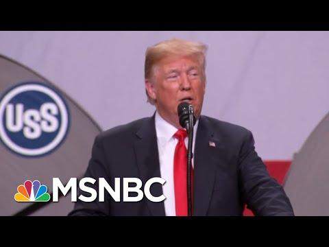 President Donald Trump Visits Midwest Amid Tariffs Hurting Farmers | Hardball | MSNBC