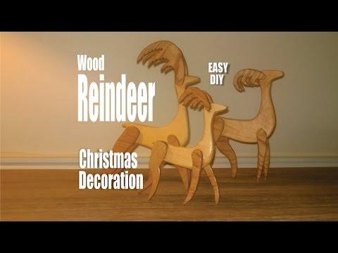 Easy DIY Scrap wood Reindeer Christmas Decorations