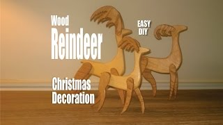 Easy to make DIY scrap wood Reindeer Christmas Decorations. These beautiful Reindeer Christmas decorations are made from