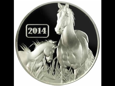 2014 Tokelau Year of the Horse silver coin