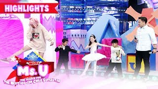 Yorme does ballet dancing with Carlo | Its Showtime Mini Miss U