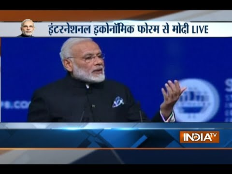 PM Modi speaks at International Economic Forum 2017 in St. Petersburg, Russia