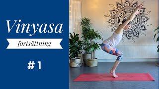 Yogapass -Vinyasa fortsättning - Ett yogapass i rörelse.