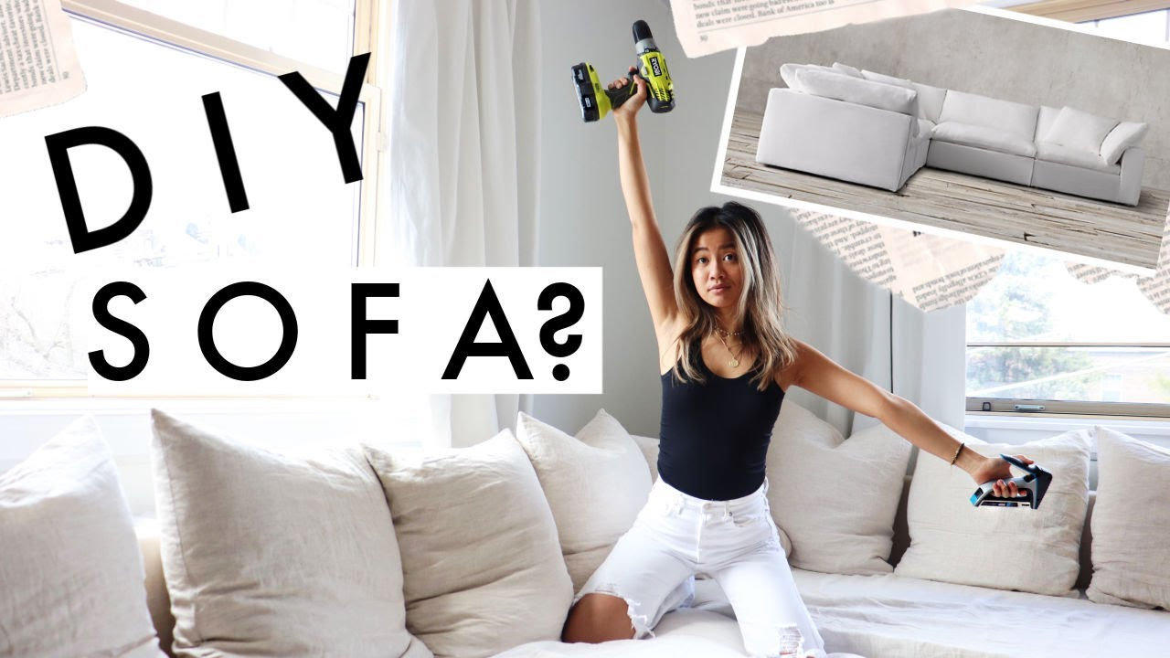 WE MADE OUR SOFA…was it worth it? | apartment diy + ikea hack