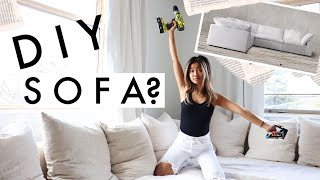 WE MADE OUR SOFA...was it worth it? | apartment diy + ikea hack