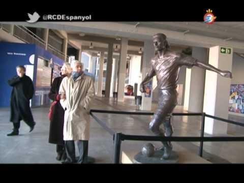 Visita de Pasqual Maragall a l'Estadi