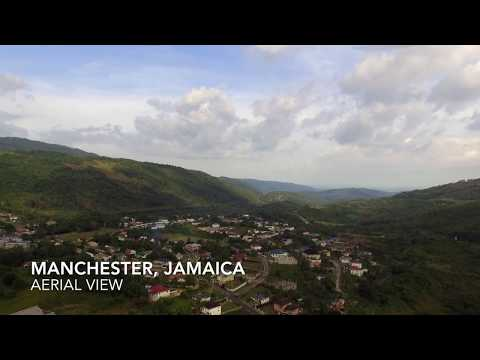 Manchester, Jamaica - Aerial View